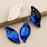 Favorite - Diamond Leaf Sew-on Stones (лист - волна) цвет Capri Blue