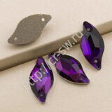 Favorite - Diamond Leaf Sew-on Stones (лист - волна) цвет Purple Velvet