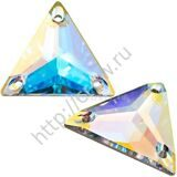 Favorite - Triangle - цвет  Crystal AB LUX