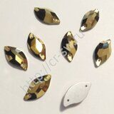 Favorite - Diamond Leaf Sew-on Stones (лист - волна) цвет Aurum (Gold Hematite)
