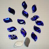 Favorite - Diamond Leaf Sew-on Stones (лист - волна) цвет Sapphire Blue